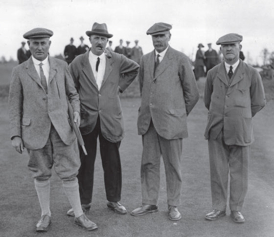 Harry Vardon, Ted Ray, James Braid and John Taylor
